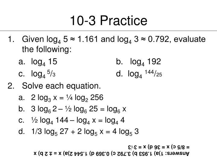 10-3 Practice