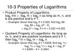 10 3 properties of logarithms