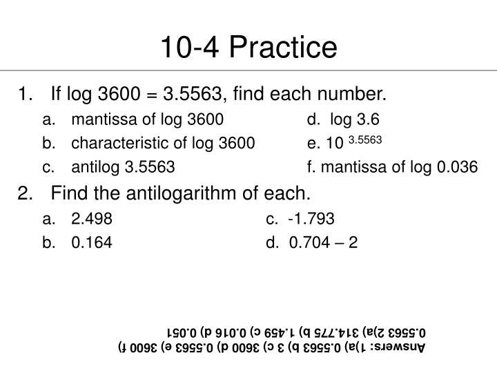 10-4 Practice