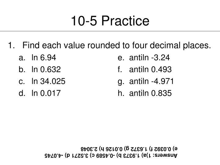10-5 Practice