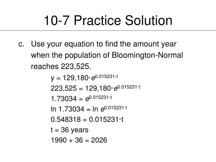 10-7 Practice Solution