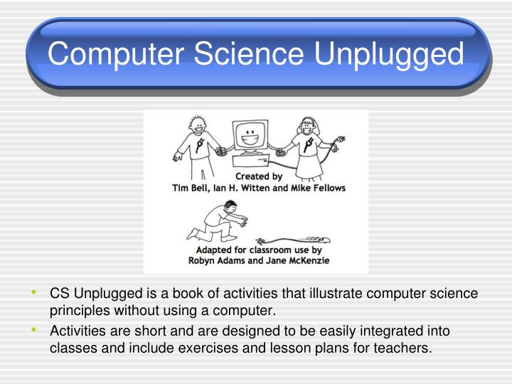 Computer science unplugged1