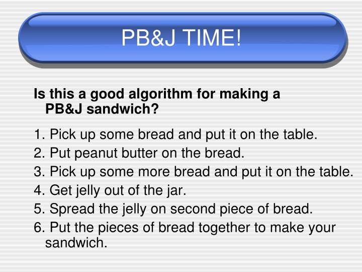 PB&J TIME!