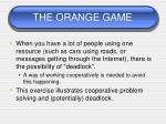 the orange game