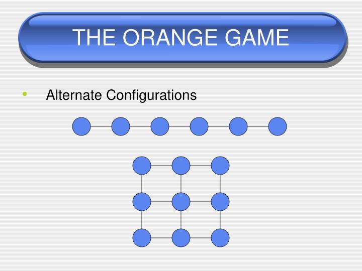 THE ORANGE GAME