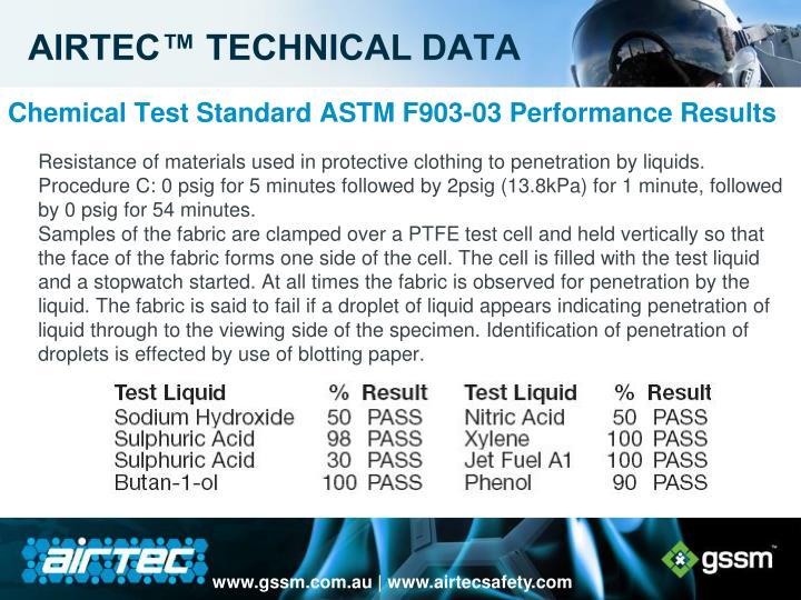 AIRTEC™ TECHNICAL DATA