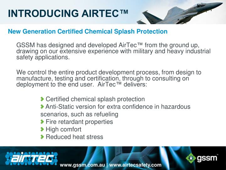 New Generation Certified Chemical Splash Protection