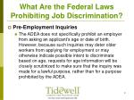 what are the federal laws prohibiting job discrimination7