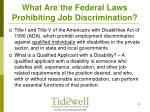 what are the federal laws prohibiting job discrimination8