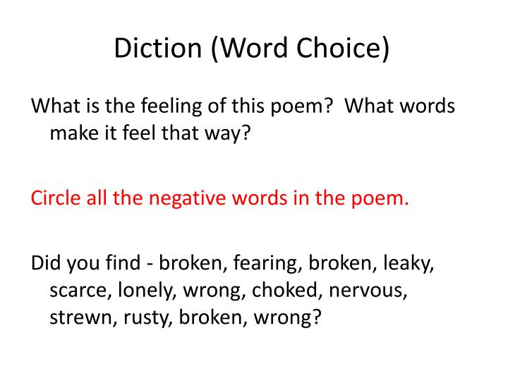 Diction (Word Choice)