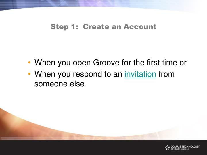 Step 1:  Create an Account