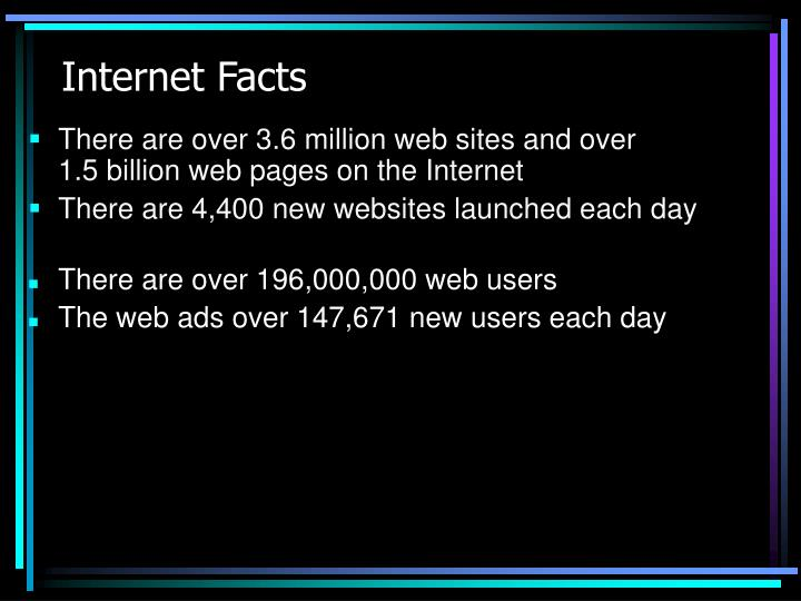 There are over 3.6 million web sites and over
