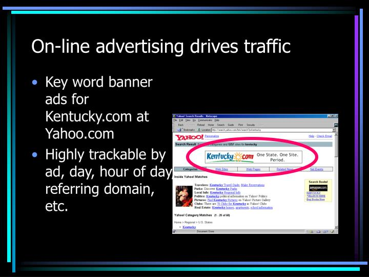 On-line advertising drives traffic