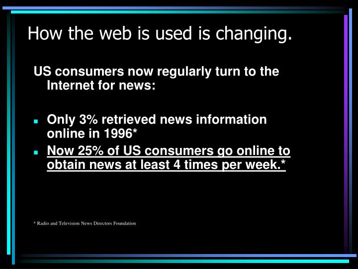 How the web is used is changing.