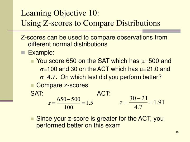 Learning Objective 10: