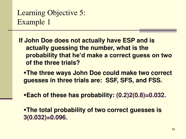 Learning Objective 5: