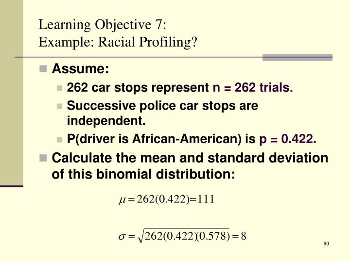 Learning Objective 7: