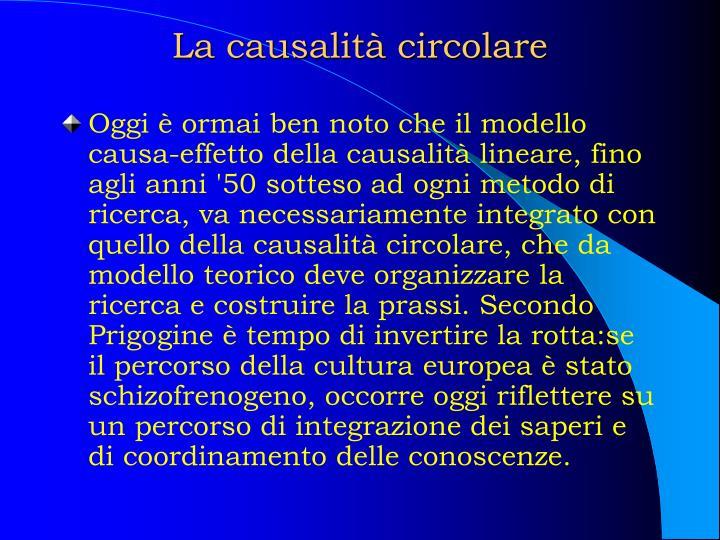 La causalità circolare