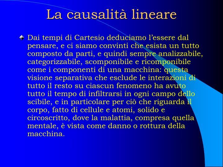 La causalità lineare