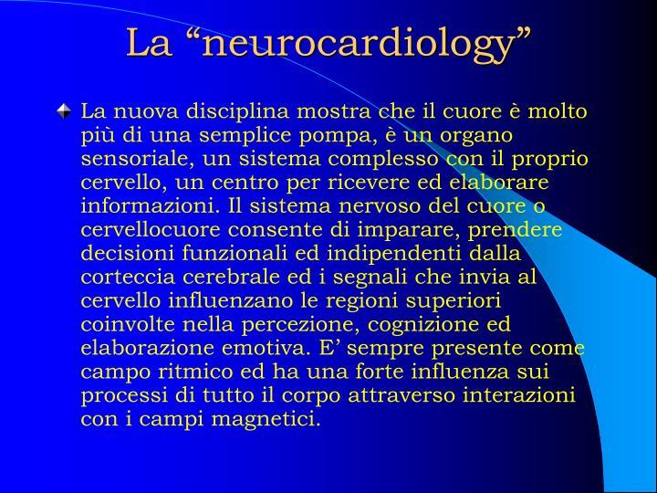 "La ""neurocardiology"""