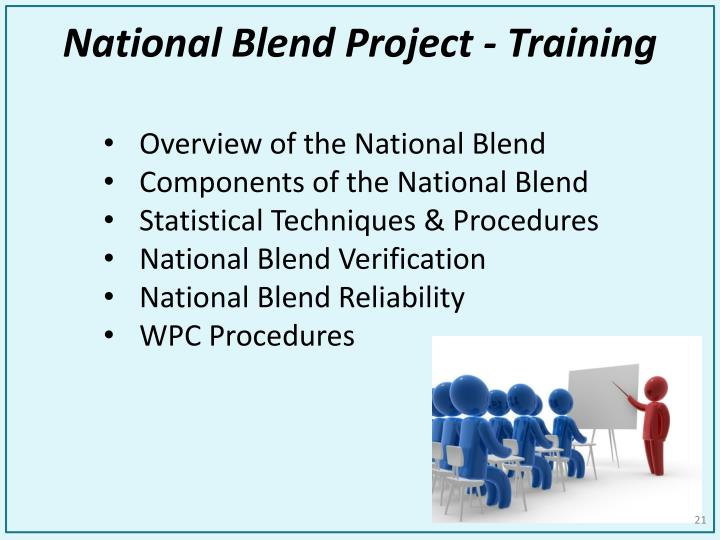 National Blend Project - Training