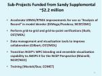 sub projects funded from sandy supplemental 2 2 million