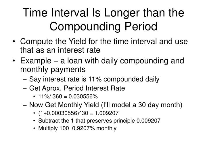 Time Interval Is Longer than the Compounding Period