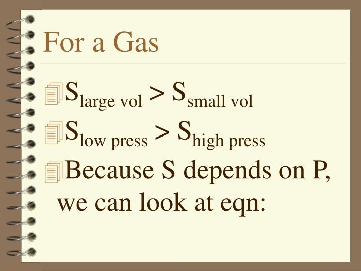 For a Gas