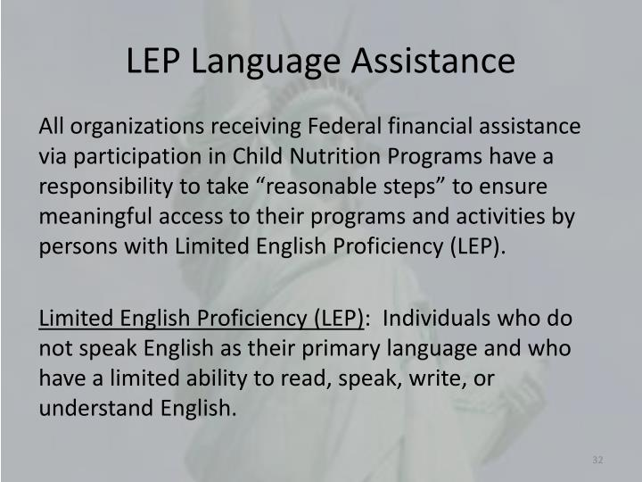 LEP Language Assistance