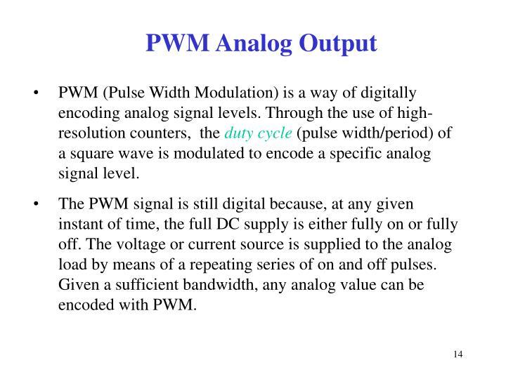PWM Analog Output