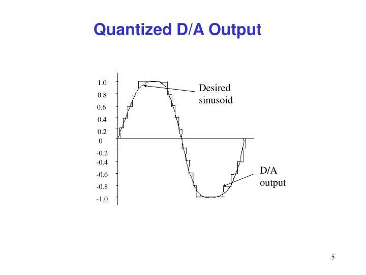 Quantized D/A Output