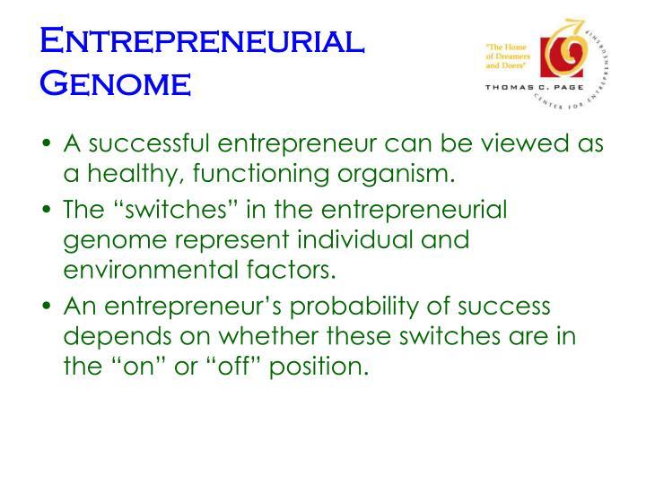 Entrepreneurial Genome