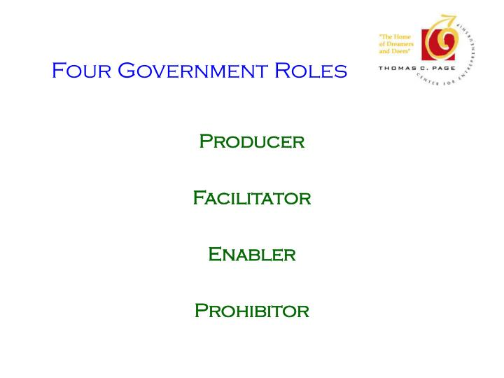 Four Government Roles