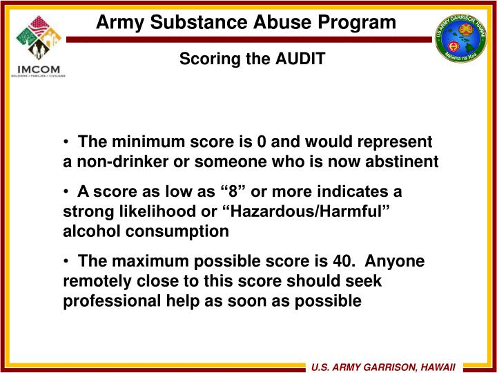 Scoring the AUDIT