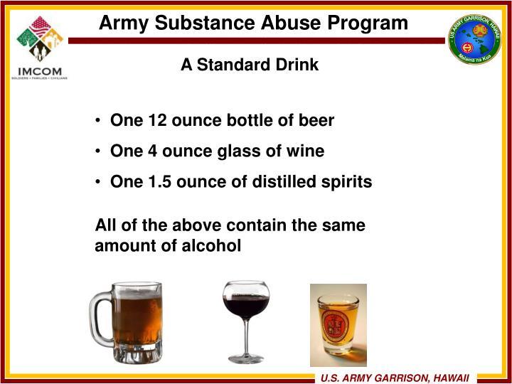 A Standard Drink