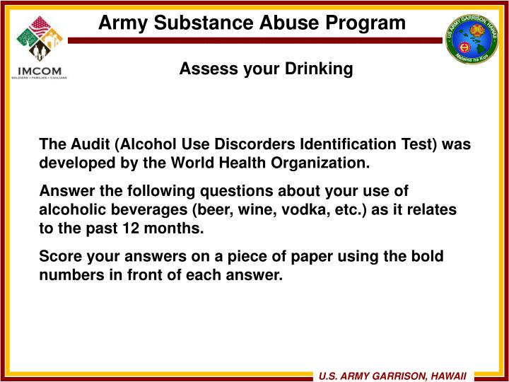 Assess your Drinking