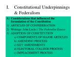 i constitutional underpinnings federalism