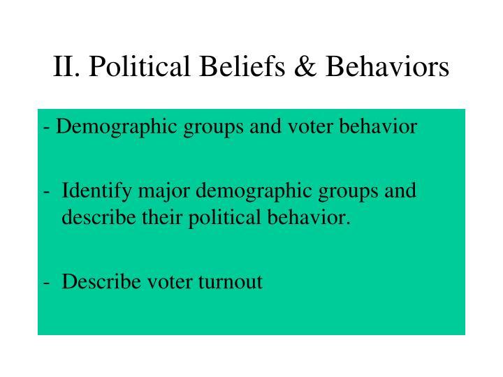 II. Political Beliefs & Behaviors