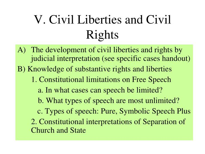 V. Civil Liberties and Civil Rights