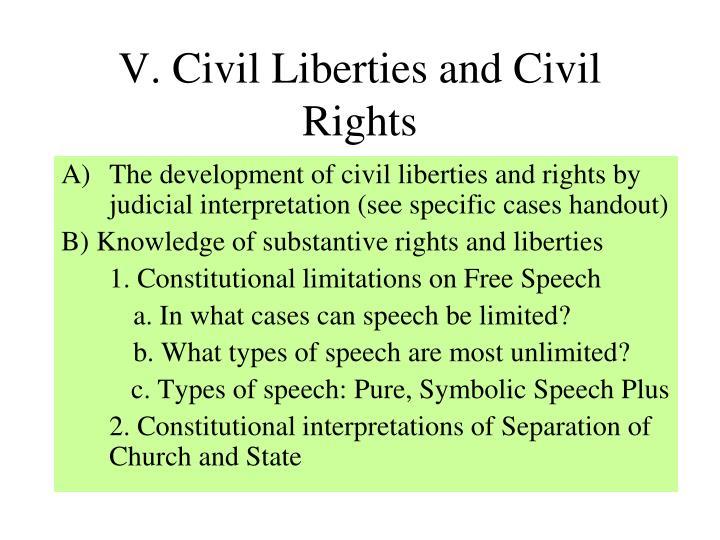 V. Civil Liberties and Civil Rights