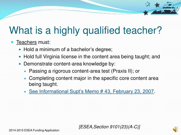 What is a highly qualified teacher?