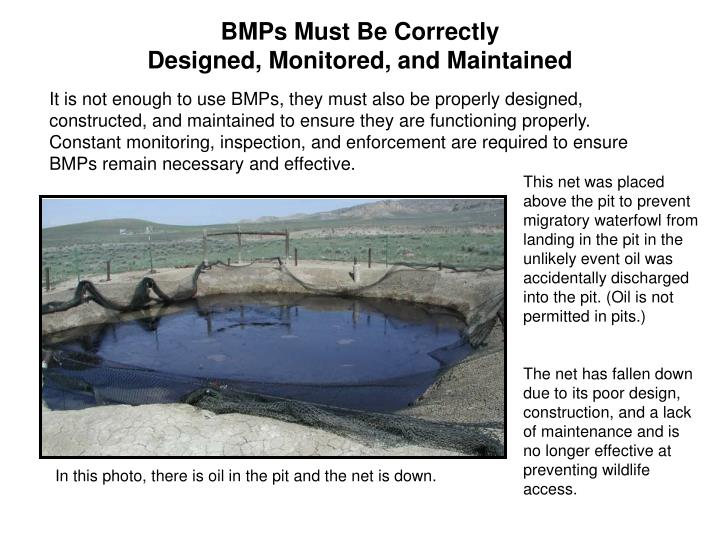 BMPs Must Be Correctly