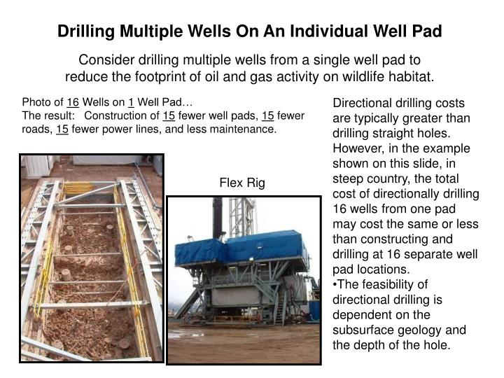 Drilling Multiple Wells On An Individual Well Pad