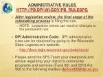 administrative rules http pb dpi wi gov pb rulespg2