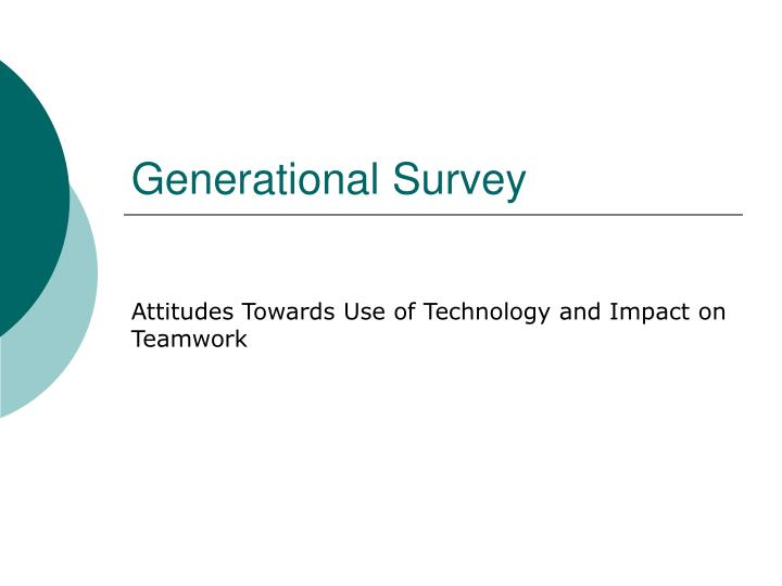 Generational survey