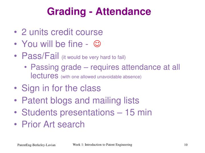 Grading - Attendance