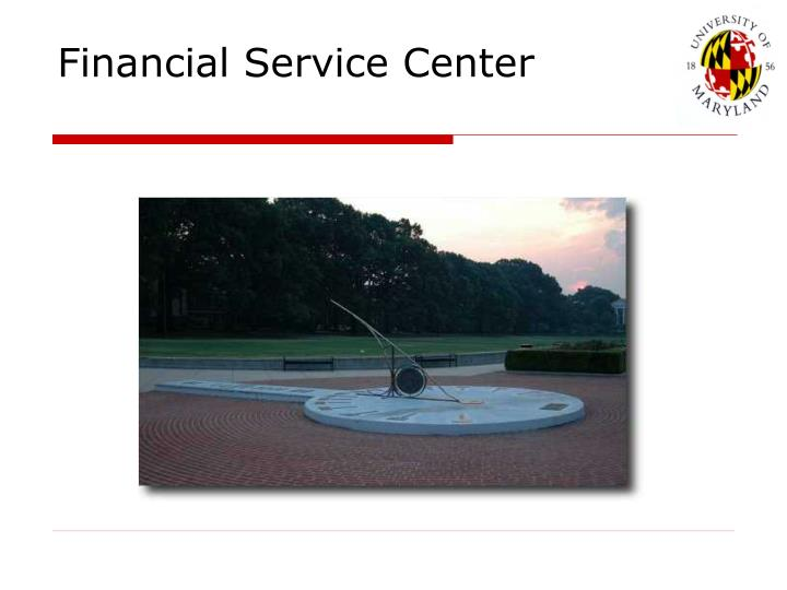 financial service center