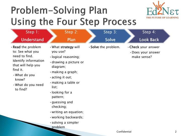 Problem-Solving Plan