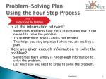 problem solving plan using the four step process2