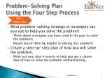 problem solving plan using the four step process3